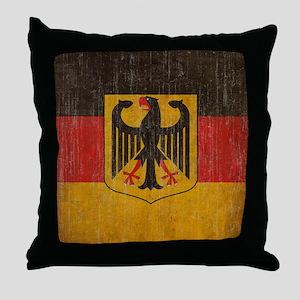 Vintage Germany Flag Throw Pillow
