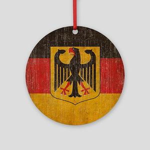 Vintage Germany Flag Round Ornament