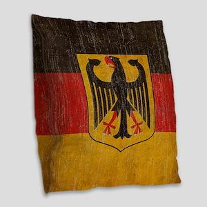 Vintage Germany Flag Burlap Throw Pillow