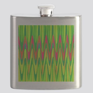 Wild Zigzag Green and Hot Pink Flask
