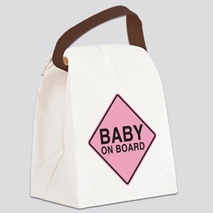 Baby on Board Canvas Lunch Bag