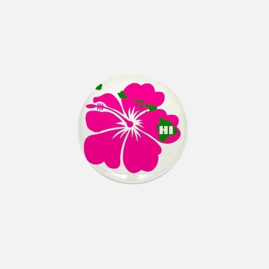 Hawaii Islands  Hibiscus Mini Button