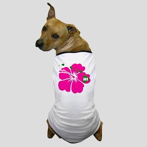 Hawaii Islands  Hibiscus Dog T-Shirt