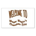 'Chocolate City' Rectangle Sticker