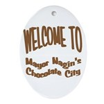 'Chocolate City' Oval Ornament