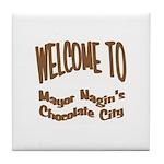 'Chocolate City' Tile Coaster