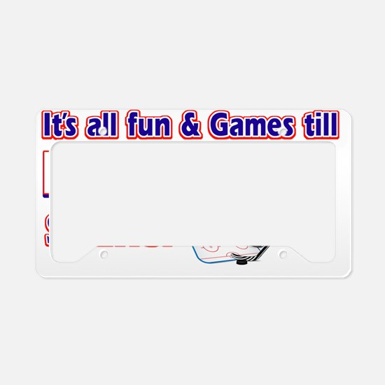 ice hockey License Plate Holder