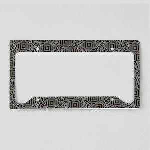 Safari Geometric Leopard Prin License Plate Holder