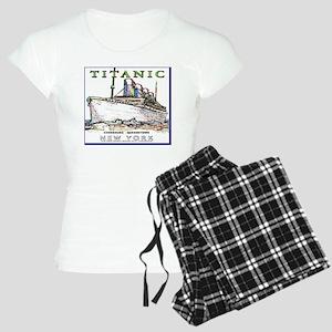 TG8WineLabelBorder Women's Light Pajamas