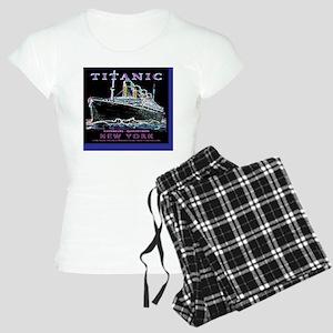NeonBlackWineLabelWideBordB Women's Light Pajamas