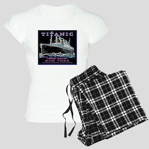 NeonBlackWineLabelBord Women's Light Pajamas