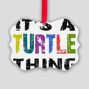 turtlething Picture Ornament