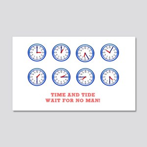 TIME AND TIDE - WAIT FOR NO MAN 20x12 Wall Decal