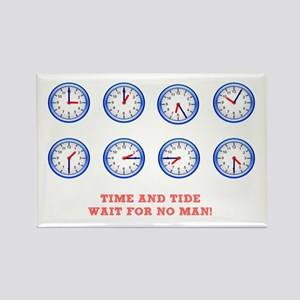 TIME AND TIDE - WAIT FOR NO MAN Rectangle Magnet