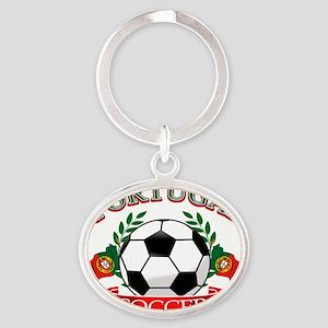 portugal Oval Keychain