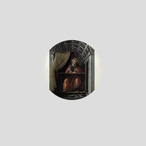 St. Augustine in His Cell - Botticelli Mini Button