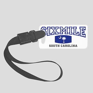 six mile south carolina palmetto Small Luggage Tag
