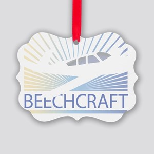 Aircraft Beechcraft Picture Ornament