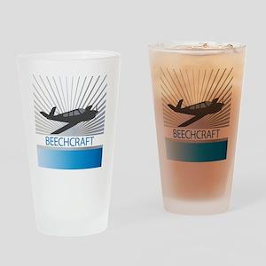 Aircraft Beechcraft Drinking Glass