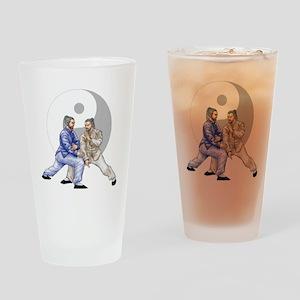 yingyangshoulderNoWordsLight Drinking Glass