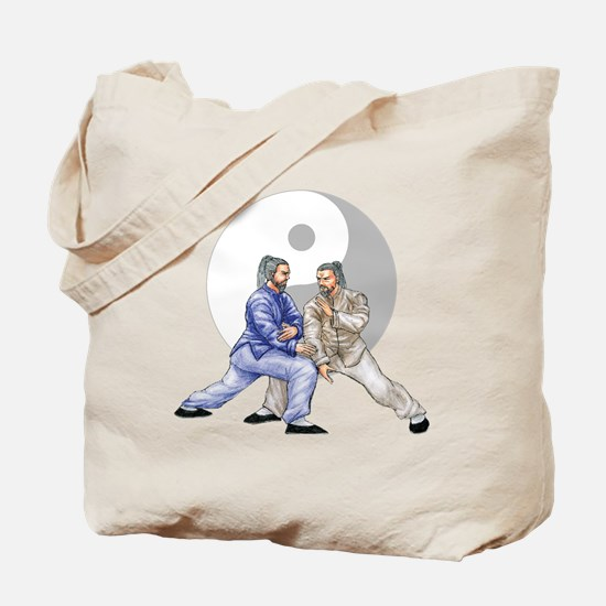 yingyangshoulderNoWordsLight Tote Bag