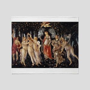 Spring - Botticelli Throw Blanket