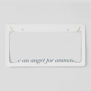 angel_for_animals License Plate Holder
