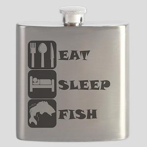 Eat Sleep Fish Flask