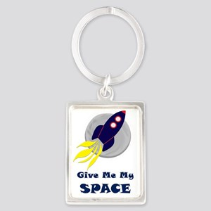 Give Me My Space Portrait Keychain