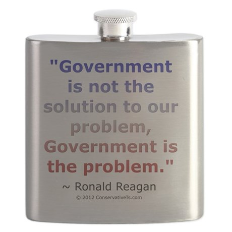 Ronald Reagan on Government Flask