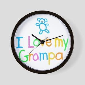 I Love My Grampa! Wall Clock