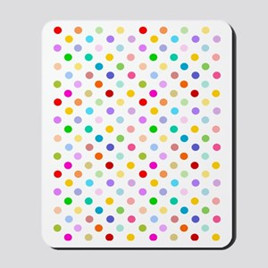 Rainbow Polka Dots Mousepad