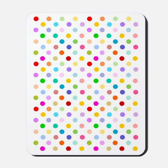 Rainbow Polka Dots Mousepad