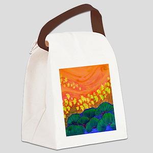 dancing Gingko 1 Canvas Lunch Bag