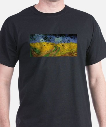 Wheat Field with Crows - Van Gogh - c1887 T-Shirt