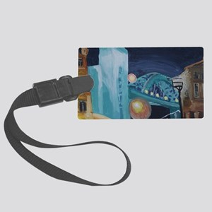 Tyne Bridge at Night Large Luggage Tag