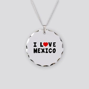 I Love Mexico Necklace Circle Charm