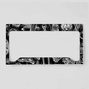 anatomy_black_pillow_cases License Plate Holder