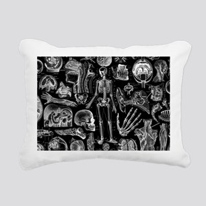 anatomy_black_pillow_cas Rectangular Canvas Pillow