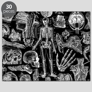 anatomy_black_pillow_cases Puzzle