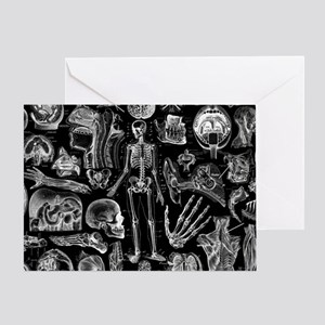 anatomy_black_pillow_cases Greeting Card