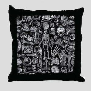anatomy_b_queen_duvet Throw Pillow