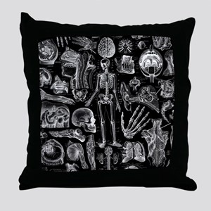 anatomy_b_twin_duvet Throw Pillow