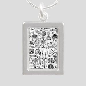 anatomy_W_queen_duvet Silver Portrait Necklace