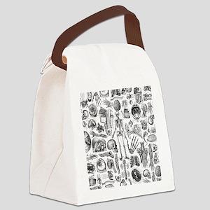 anatomy_W_queen_duvet Canvas Lunch Bag