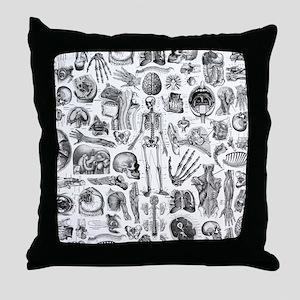 anatomy_W_king_duvet Throw Pillow
