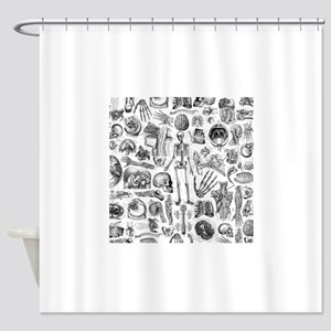 Anatomy W Queen Duvet Shower Curtain