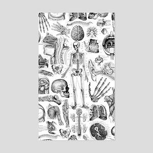 anatomy_W_twin_duvet Sticker (Rectangle)