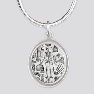 anatomy_W_twin_duvet Silver Oval Necklace