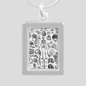 anatomy_W_twin_duvet Silver Portrait Necklace